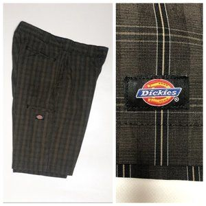 Dickies Brand Mens Plaid Shorts Size 34